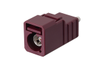 FAKRA Generation 3 Code D Claret/Violet Plug Connector for RG-174 & RG-316 Type Cables
